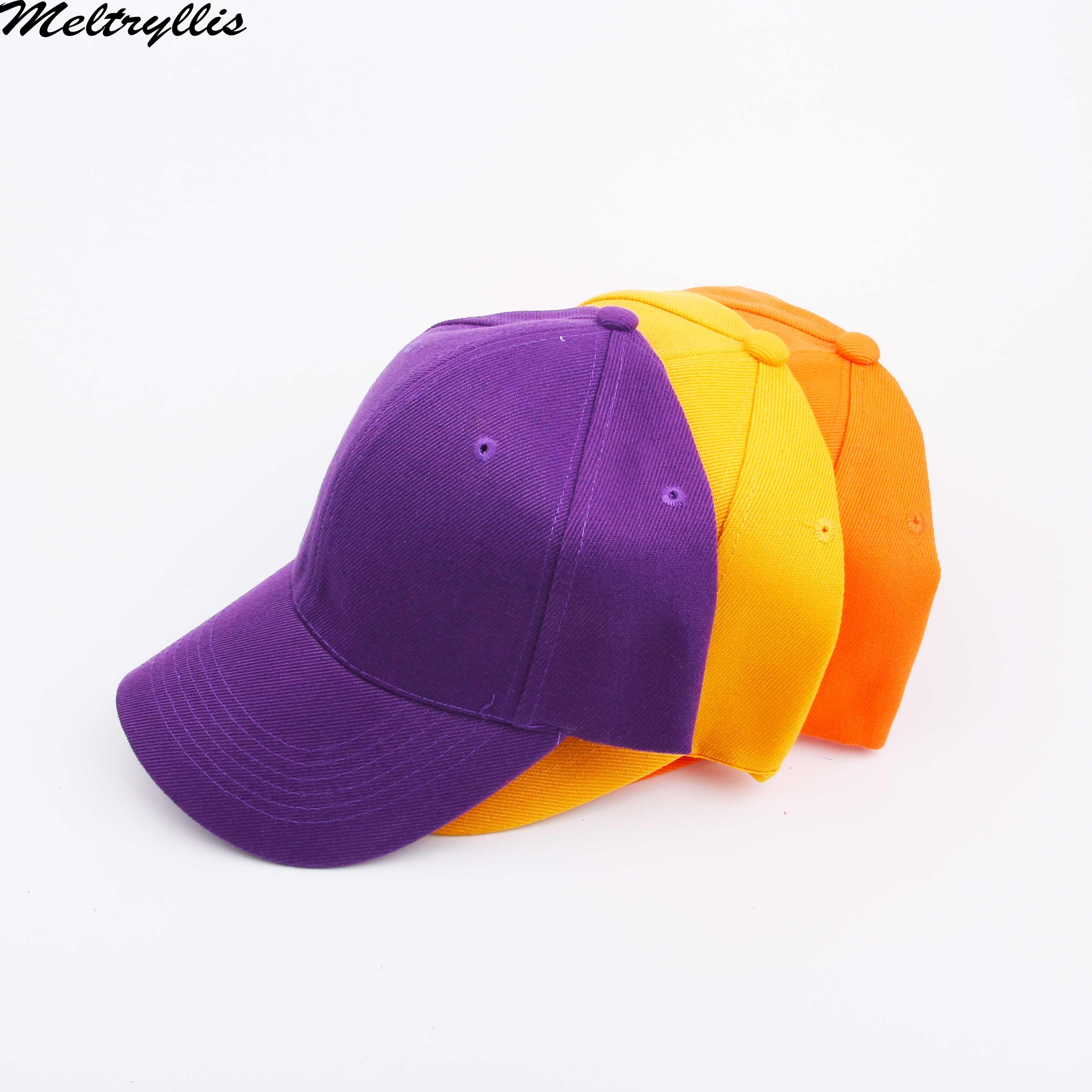 [Meltryllis] Curved Sun Visor Light Board Solid Color Orange Yellow Purple Baseball Cap Men Women Fahsion Outdoor Sport Hat