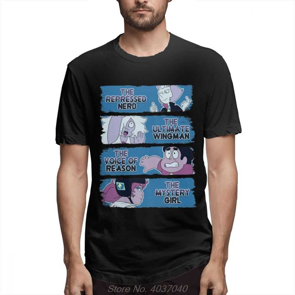Last One Out Of Beach City Steven Universe Tee Men Soft Homme Tee Shirt O-Neck Plus Size  Awesome Black Cotton Tee Shirt