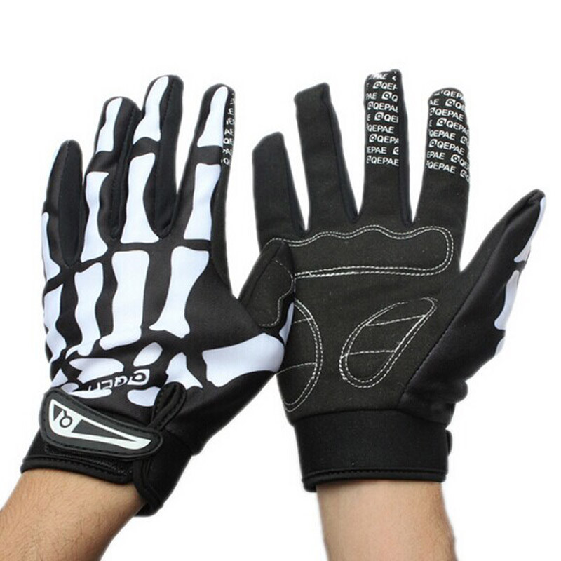 Winter Gloves Skull Cycling Skeleton Motorcyle Full-Finger-Glove Touchscreen Sport Windproof title=