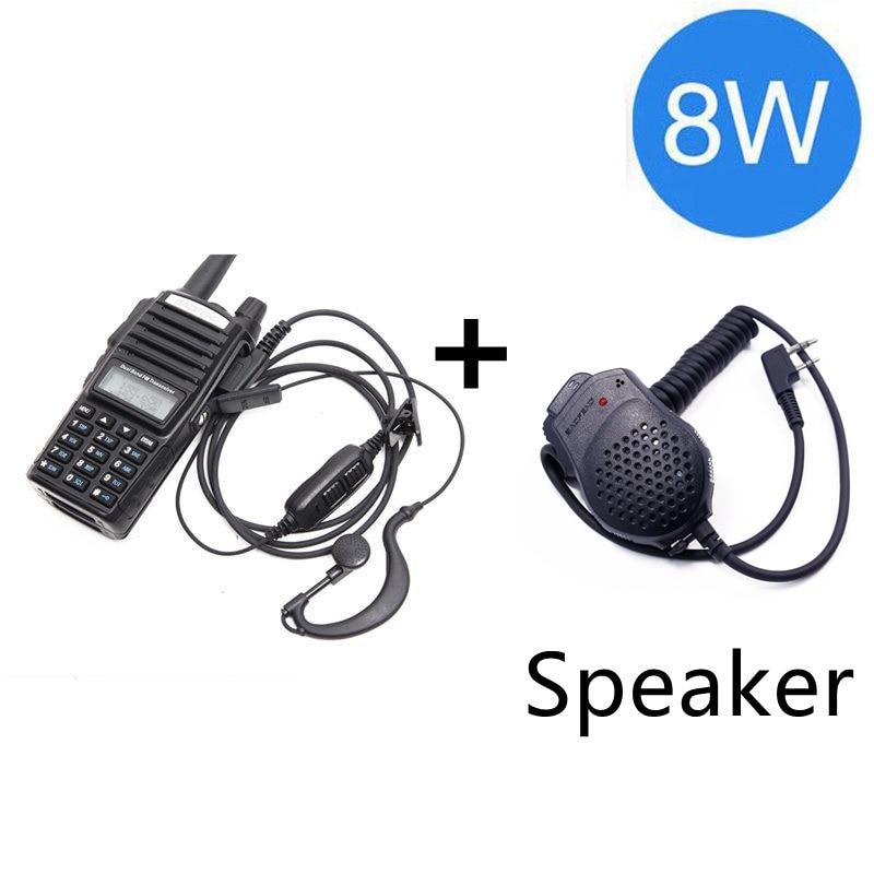 Baofeng UV-82 Plus 8 Вт 10 км Большая дальность мощная портативная рация CB vhf/uhf двухстороннее радио Amador 8 Вт UV82 Plus - Цвет: black speaker