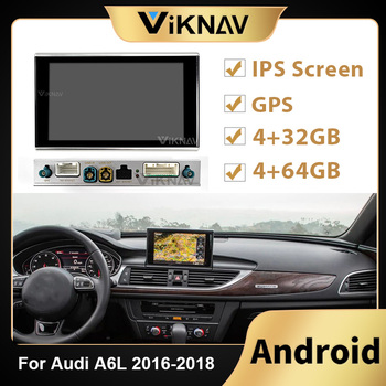Android Car Radio player Head Unit For AUDI A6 2016 2017 2018 Car Split machine Stereo Recorder DVD Multimedia Player image