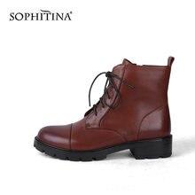 Sophitina/женские ботильоны; Качественные теплые короткие плюшевые