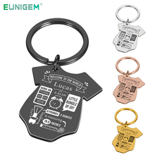 Baby Key Chain First Mother's Father's Day Gift New Born Baby Souvenir Jewelry Baby Siamese Shape Couple Anniversary Charm Gifts