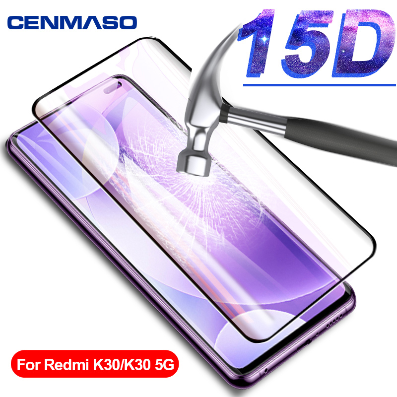 For Redmi K30 Note 7 8 8T K20 Pro Glass For Xiaomi Mi Note 10 9T 9 Lite Redmi 8A Screen Protector 9H Tempered 15D Glass