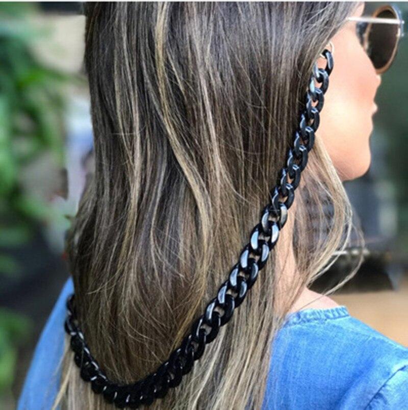 Ретро 70 см цепочка для очков для женщин модные европейские черные белые ремешки цепочка для очков Очки для чтения|Очки аксессуары| | - AliExpress