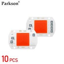 10 개/몫 LED 성장 COB 칩 전체 스펙트럼 LED 성장 빛 Phyto 램프 AC 110V 220V 50W 실내 식물 빛 모 종 성장 램프