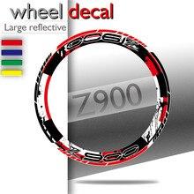 Pegatina de motocicleta para KAWASAKI Z900 z 900, cubierta completa de neumáticos, borde interior y exterior, pegatinas de rueda de rayas laterales gruesas, novedad