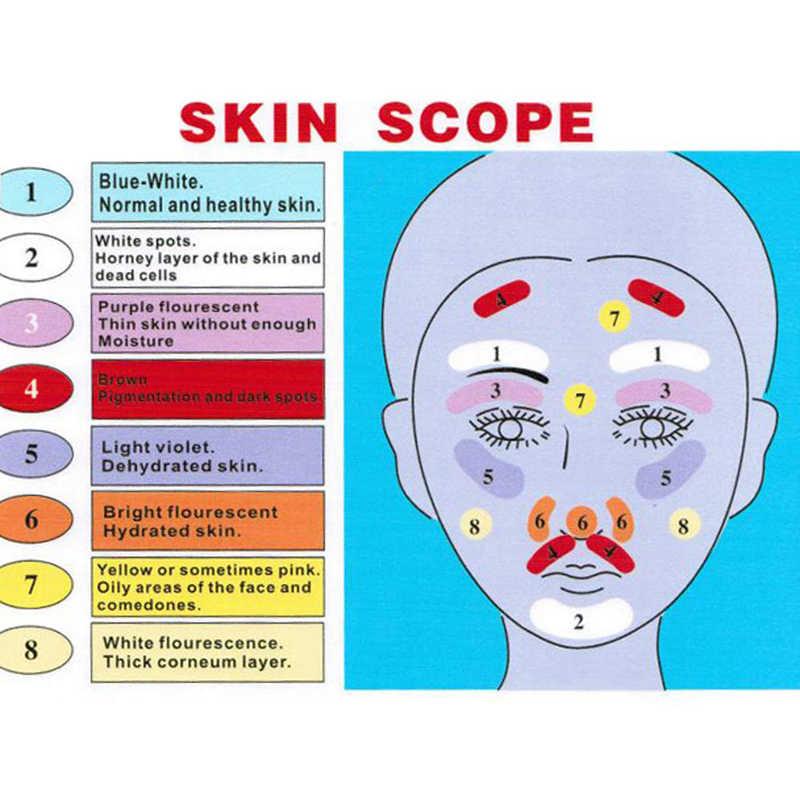 Cilt UV büyüteç analizörü lamba cilt testi cilt algılama güzellik yüz bakımı makinesi ev ve Salon için
