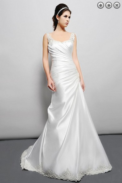 Free Shipping Vintage 2016 New Designer Bridal Gown Plus Size Sain Simple White Long Dress Beaded Maxi Dress Beach Wedding Dress