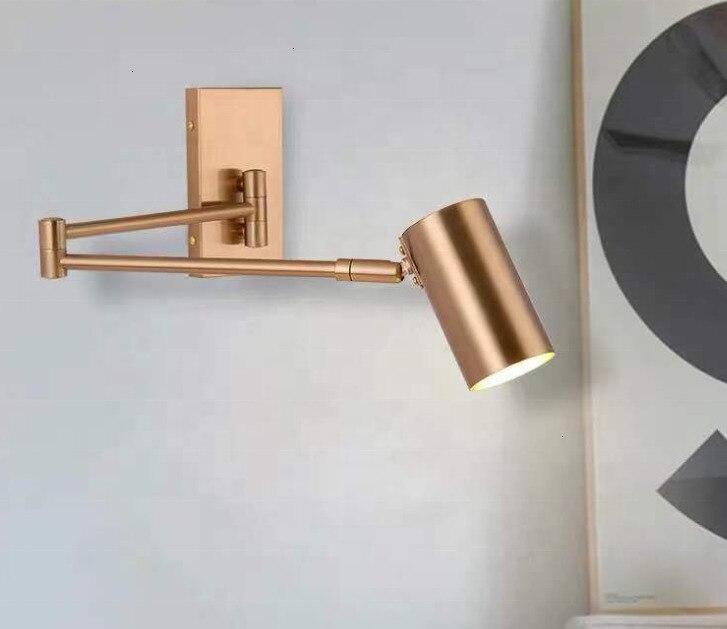 Скандинавский постмодерн Дизайн бра светильник простая лента стеклянная современная настенная лампа Ins ветровая синяя белая серая стеклянные настенная лампа для дома - 2