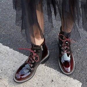 Image 5 - FEDONAS الأزياء جلد طبيعي النساء منتصف العجل الأحذية ميد الكعب أحذية ركوب الخيل النادي الليلي الأحذية امرأة الخريف الشتاء دراجة نارية التمهيد