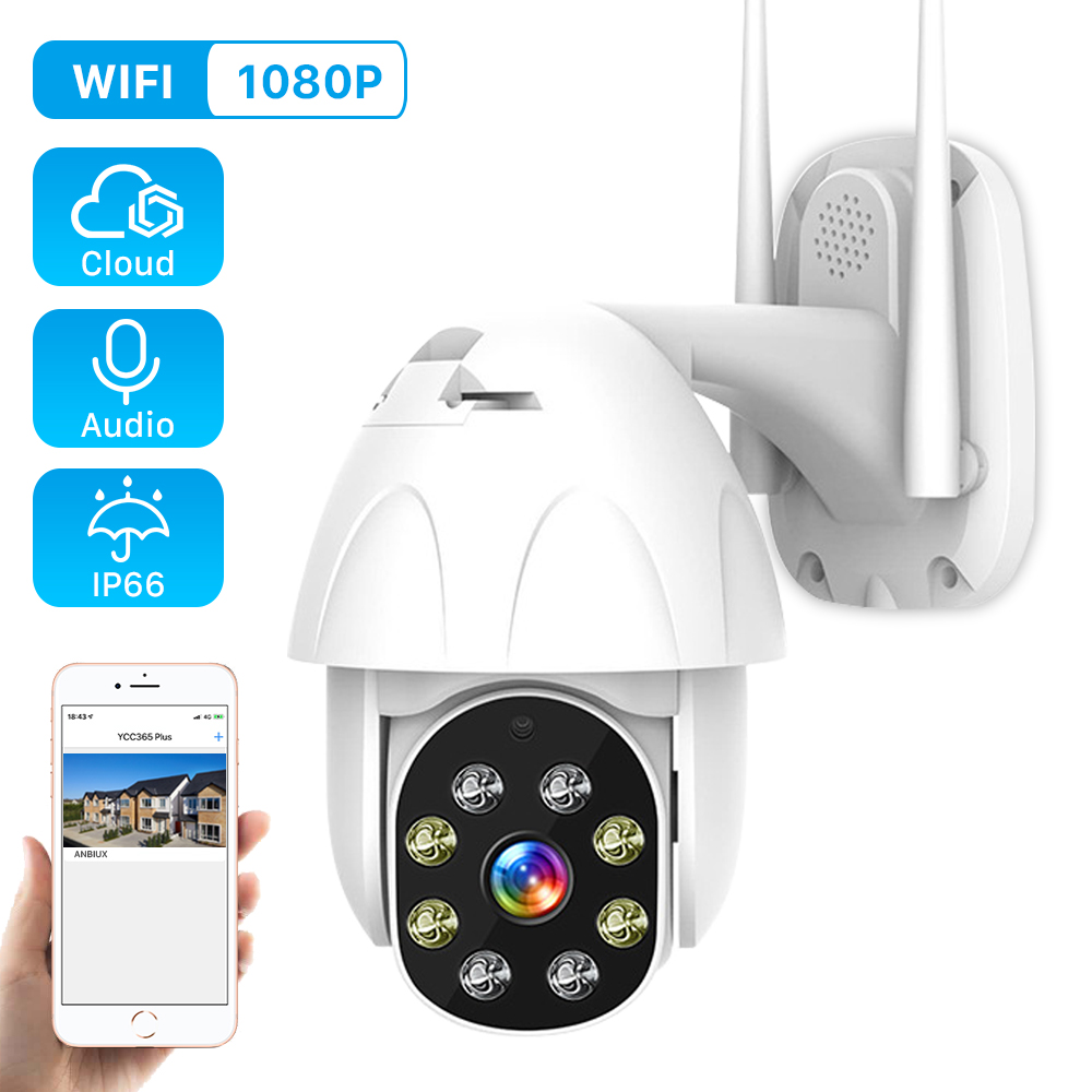 Wifi-Camera Auto Tracking Digital-Zoom Speed Dome CCTV 1080p Ptz Waterproof 2MP Home-Security