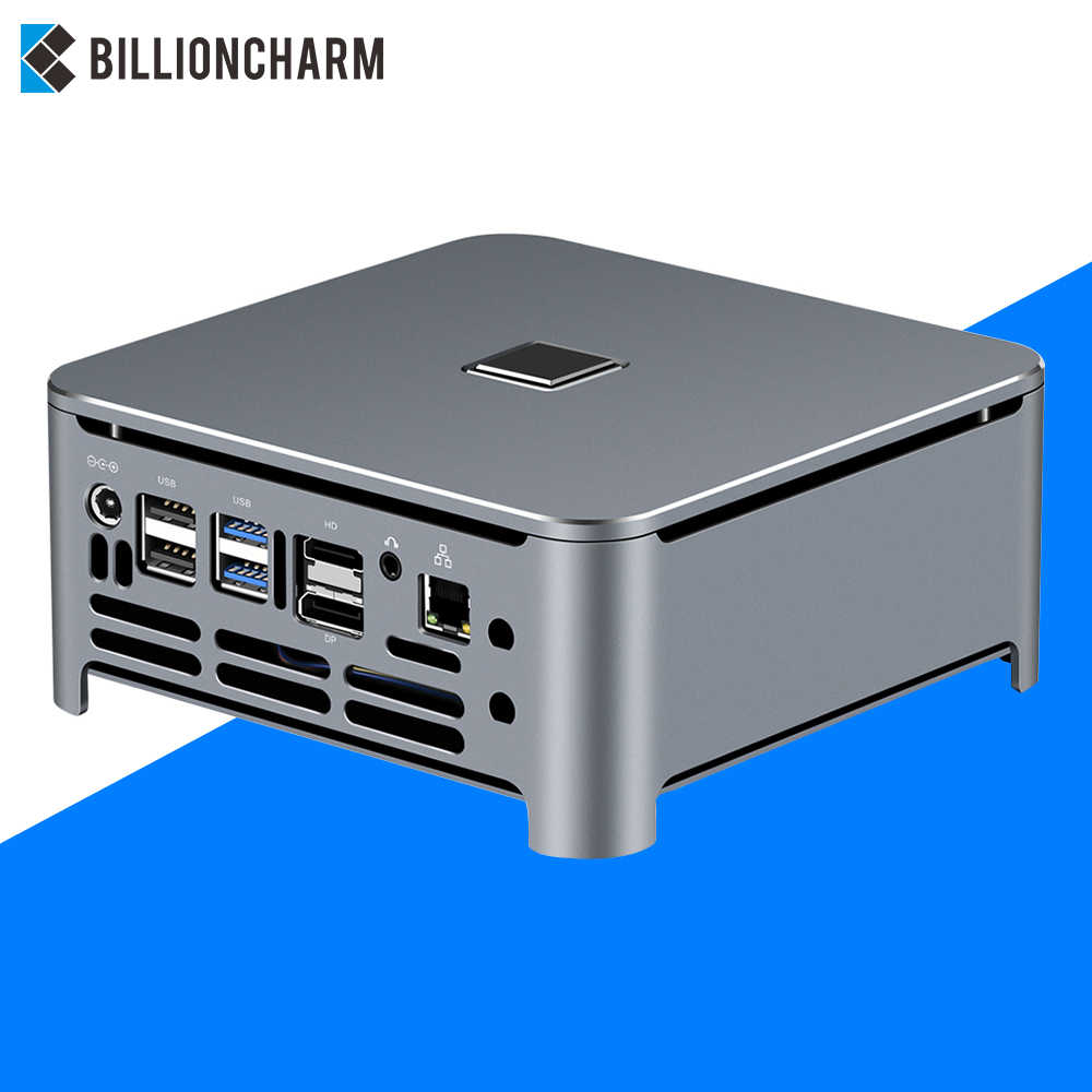Mini pc intel core i9 9980hk 9880h i7 i5 ddr4 win10 wifi, linux 4k uhd htpc hdmi, melhor computador computador industrial do desktop do minipc