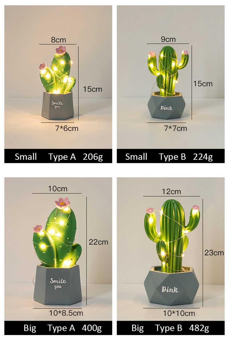 Sáng Tạo Xương Rồng Đêm Đèn Nhựa Đèn Để Bàn Lễ Tình Nhân Quà Tặng Dành Cho Bạn Gái Sinh Nhật Phòng Đèn Bàn Trang Trí Đám Cưới