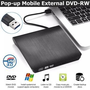 USB 3.0/Type-C Slim External DVD RW CD Writer Drive Burner Reader Player Optical Drives For Laptop PC