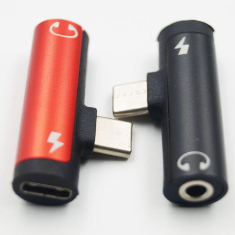 Адаптер 2 в 1 Type C для разъема 3,5 мм для зарядки наушников USB Type-C аудио адаптер для смартфона Android Type C TSLM1
