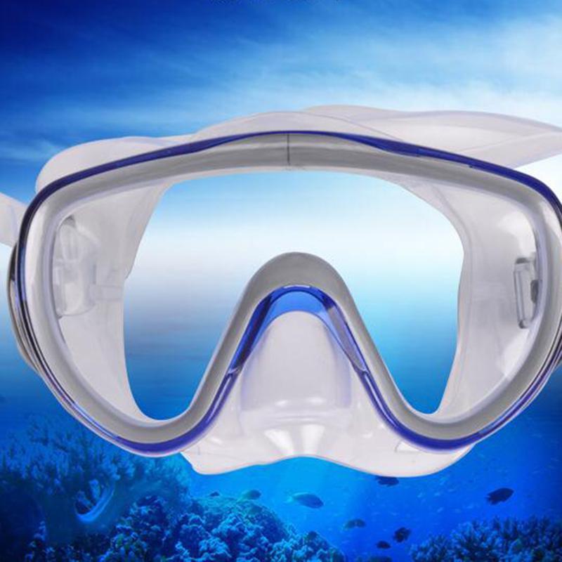 HobbyLane Adult Large Professiona Frame Diving Silicone Mask High Definition Snorkeling Diving Goggles Equipment Men Women