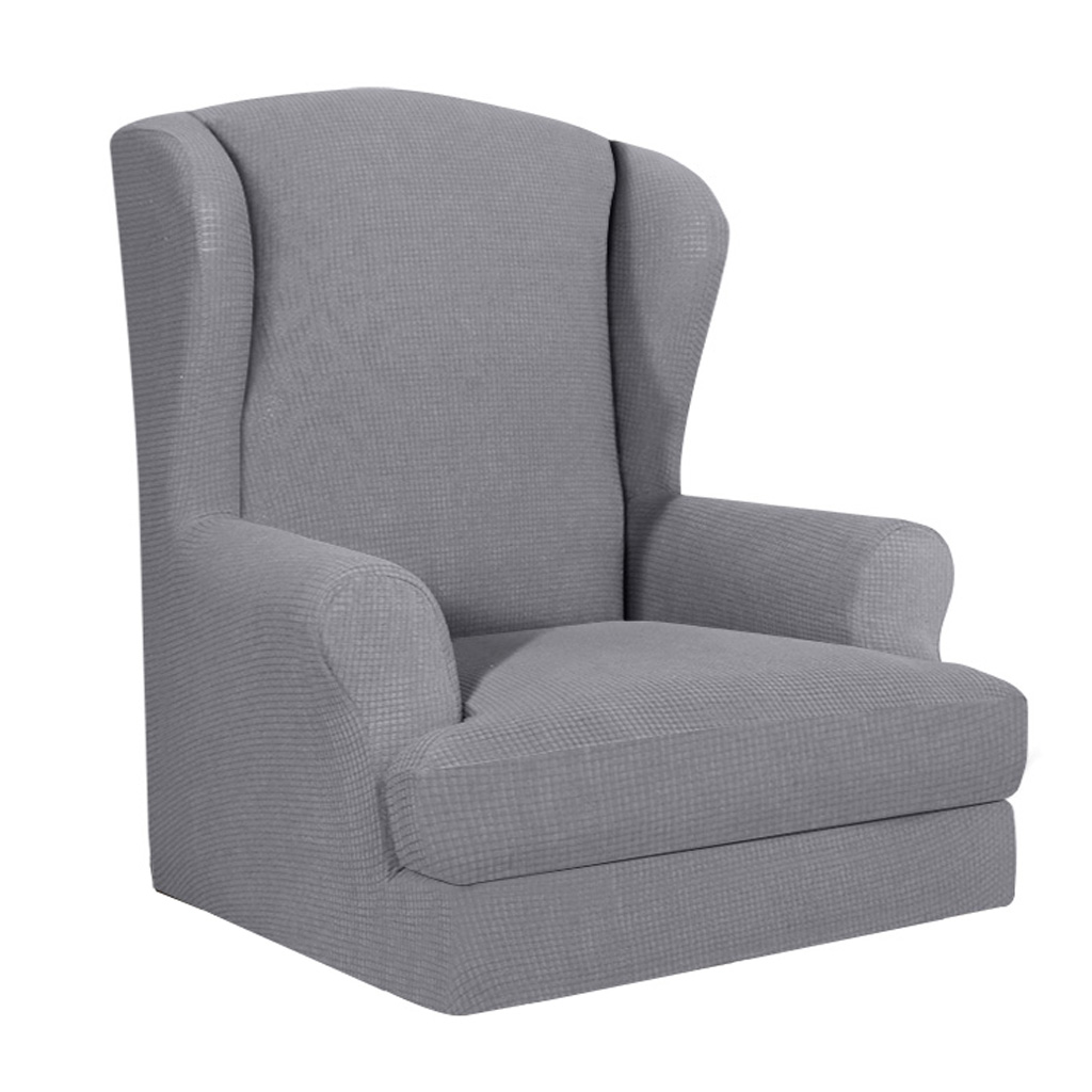 Wing Chair Cover Stretch Wingback Armchair Sofa SlipCover Elastic Furniture Protector