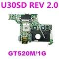 U30SD GT520M/1G N12P-GV-S-A1 материнская плата REV 2 0 для U30SD U30S материнская плата для ноутбука HM65 DDR3 USB 2 0 60-N3ZMB1300-A19 100% протестирована