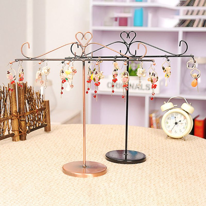 Metal Ornament Display Tree Jewelry Organizer Stand Earrings Necklace Holder