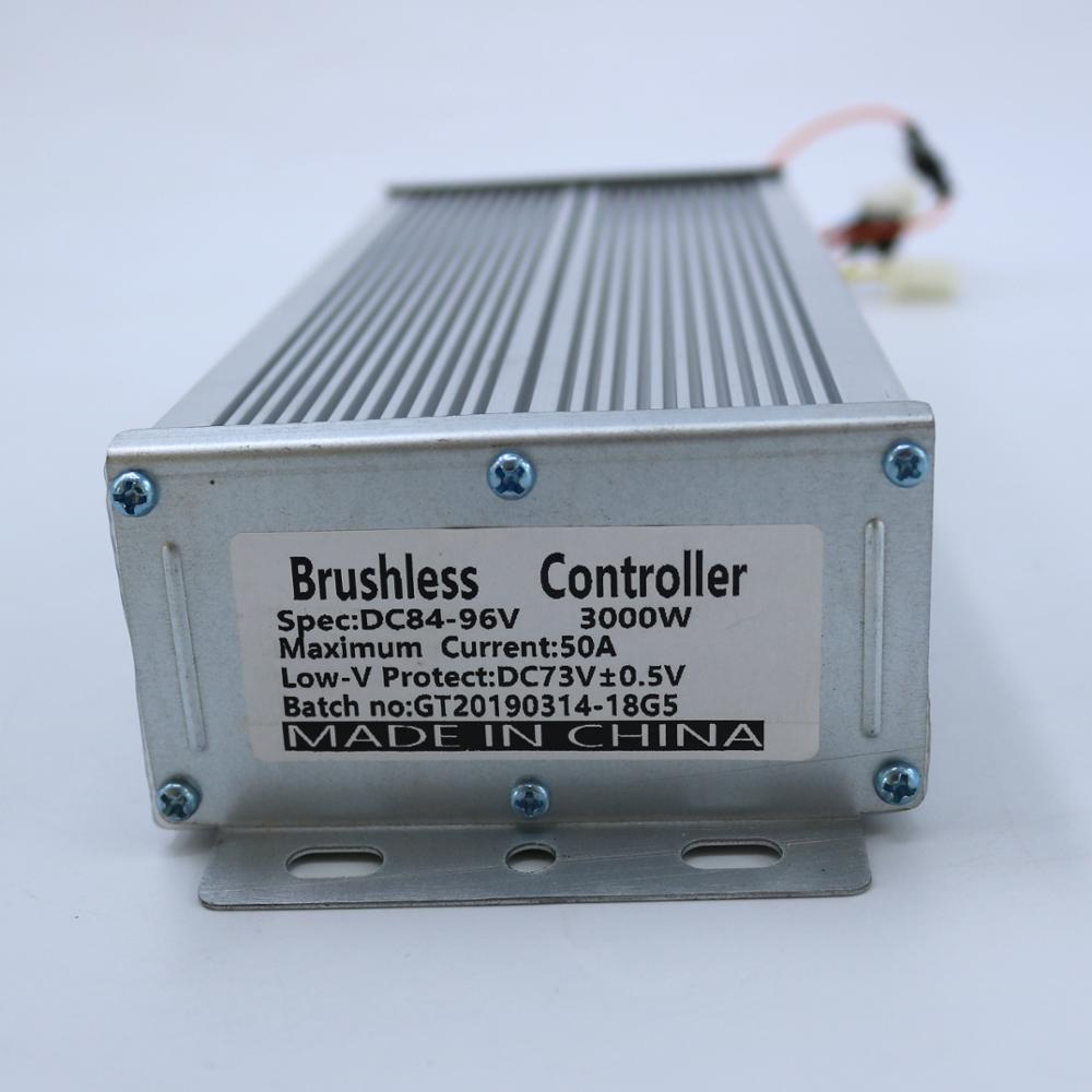 GREENTIME Sensor/sensorless Dual Mode 84-96V 3000W 50A BLDC Motor Controller E-bike Brushless Speed Controller
