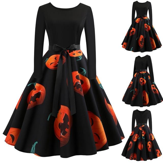 Halloween Pumpkin Dress Size S to 2XL 3