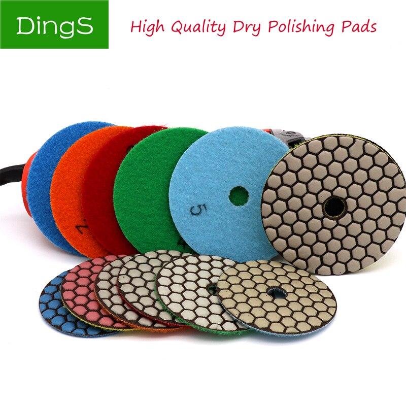 1pcs 80/100mm Dry Polishing Buffing Pad Diamond Sanding Grinding Disc For Granite Marble Tile Polisher Stone Ceramic Hand Tools