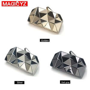 Image 4 - MAGICYZ Gold Acrylic Box Geometry Clutch Evening Bag Elegent Chain Women Handbag For Party Shoulder Bag For Wedding/Dating/Party