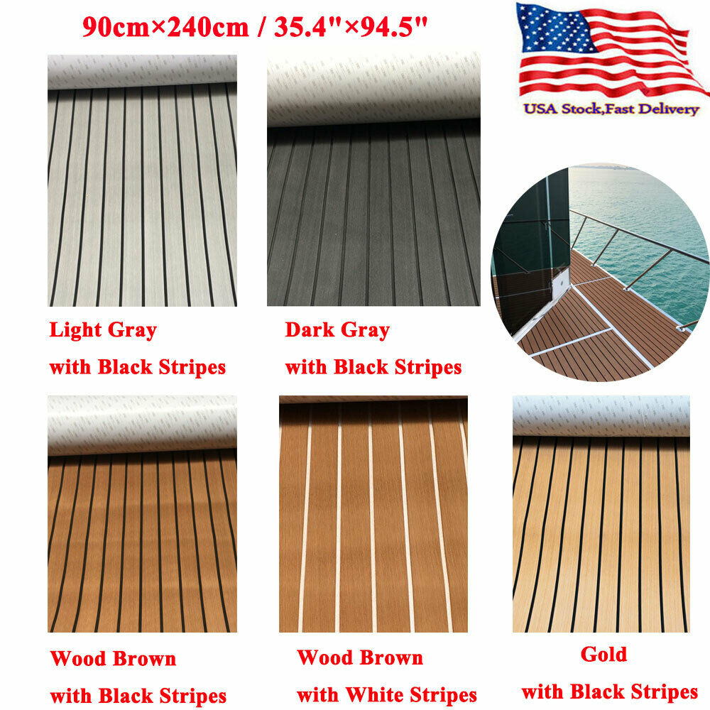 Grande taille plancher marin de luxe Faux teck EVA mousse bateau platelage feuille tapis USA