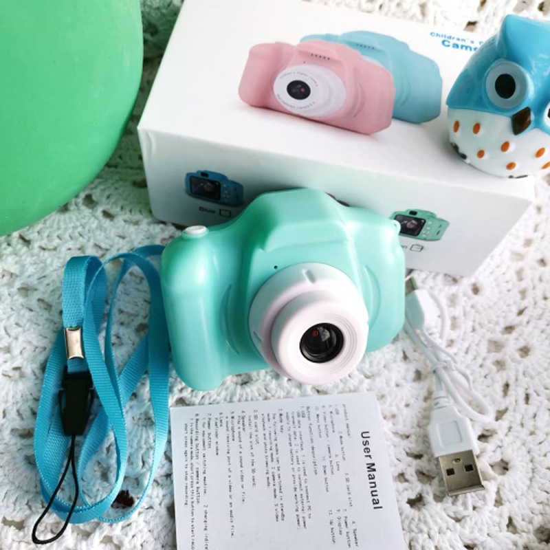 Kids Camera Toys For Children Birthday Christmas Gift Mini Digital Cameras Toys Photography Props With 16/32GB TF Cards