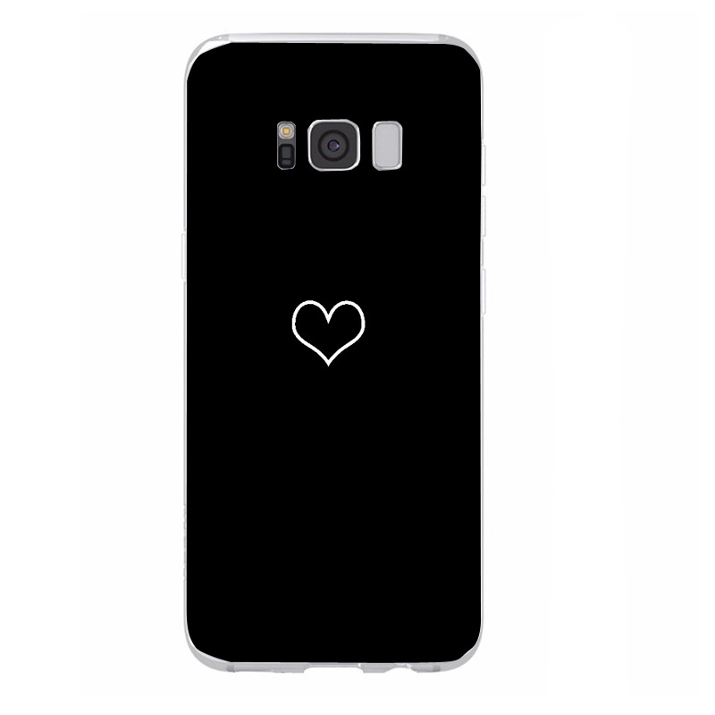 Cartoon Heart Cover For Samsung Galaxy S7 Edge S8 S9 Plus A5 J5 2017 Soft TPU Silicone Cases For Samsung Note 9 Phone Case