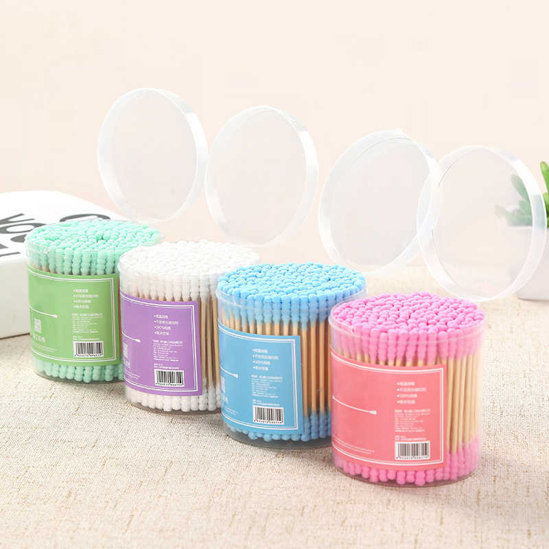 1SET/200PCS Bamboo Cotton Swab Wood Sticks Soft Cotton Buds cleaning of ears Tampons Microbrush Cotonete pampons Health Beauty