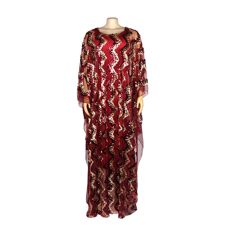 Image 4 - New Fashion African Maxi Dress For Women 2020 African Clothes African Sequins Robe Loose Dashiki Traditional Long Dress LadyAfrica Clothing   -