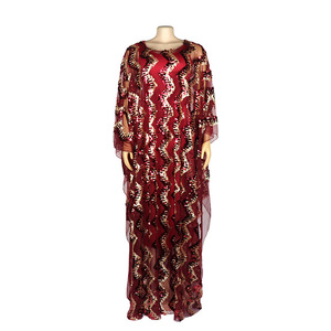 Image 4 - New Fashion African Maxi Dress For Women 2020 African Clothes African Sequins Robe Loose Dashiki Traditional Long Dress Lady