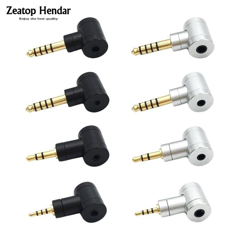 1 pces ângulo de alta fidelidade 2.5 / 3.5/ 4.4 adaptador equilibrado 2.5mm / 3.5mm fêmea para 2.5mm / 3.5mm / 4.4mm plugue masculino para telefones players de música