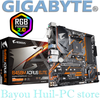 GIGABYTE B450M AORUS ELITE Gaming AM4 DRR4 motherboard, new size, compatible with Ruilong second and third generation image