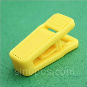 HOUSE DAY 20PCS Plastic Finger Clips for Hangers Pants Hanger Clips Yellow Strong Pinch Grip Clips for Use with Slim-line Clothes Hangers