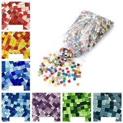 300 pcs/pack Crystal Glass Mosaic DIY Hobbies Tile Creativity Art Materia Handmade creative For Kids Mini Mosaic Tile Material