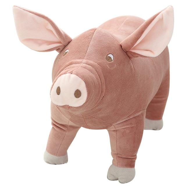 Plush Toy Pigg Pig Cartoon Accompany Sleeping Stuffed Animal Soft Toys 25cm toys for boys soft Stuffed animals sweetie D300601