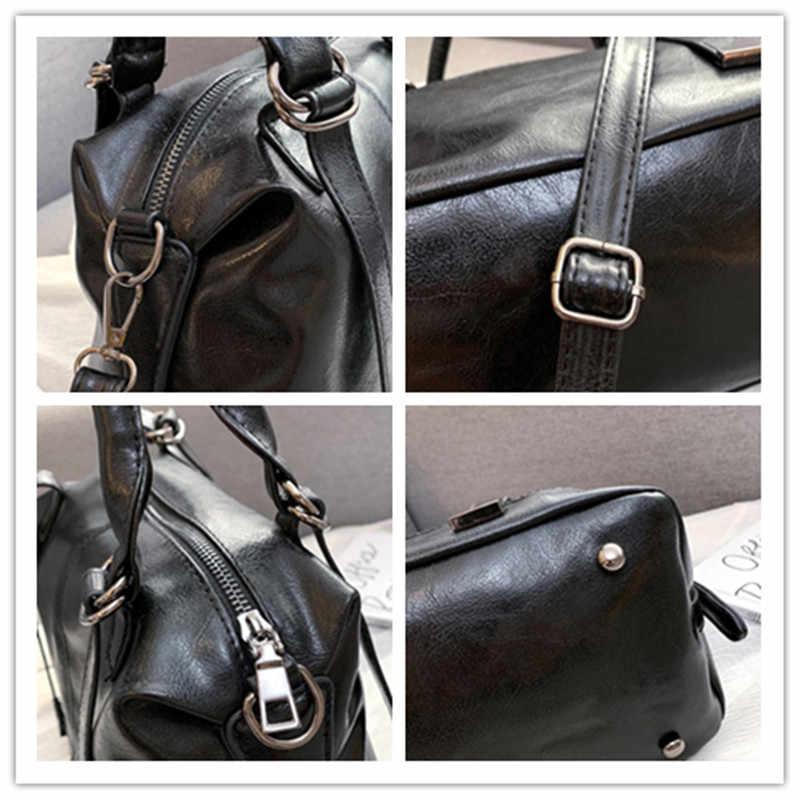 IMYOK doux en cuir PU femmes sacs nouveau grande capacité unique épaule sac de messager Boston dames sacs à main pour les femmes 2019