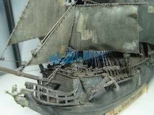 Image 5 - 1 / 96scale Pirates of The Caribbean Black Pearl Simulation Wooden Sail DIY Boat Model Kit Handmade Adult Toy Gift  Home Decor