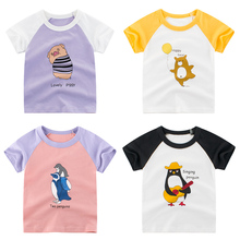 Kids Girls T Shirt Summer Baby Boys Cotton Tops Toddler Cartoon Tees Clothes Children Clothing Animal  T-shirts Short Sleeve summer boys t shirt children tops clothing cotton dinosaur short sleeve t shirts kids boy white girls tee toddler 1 8years baby