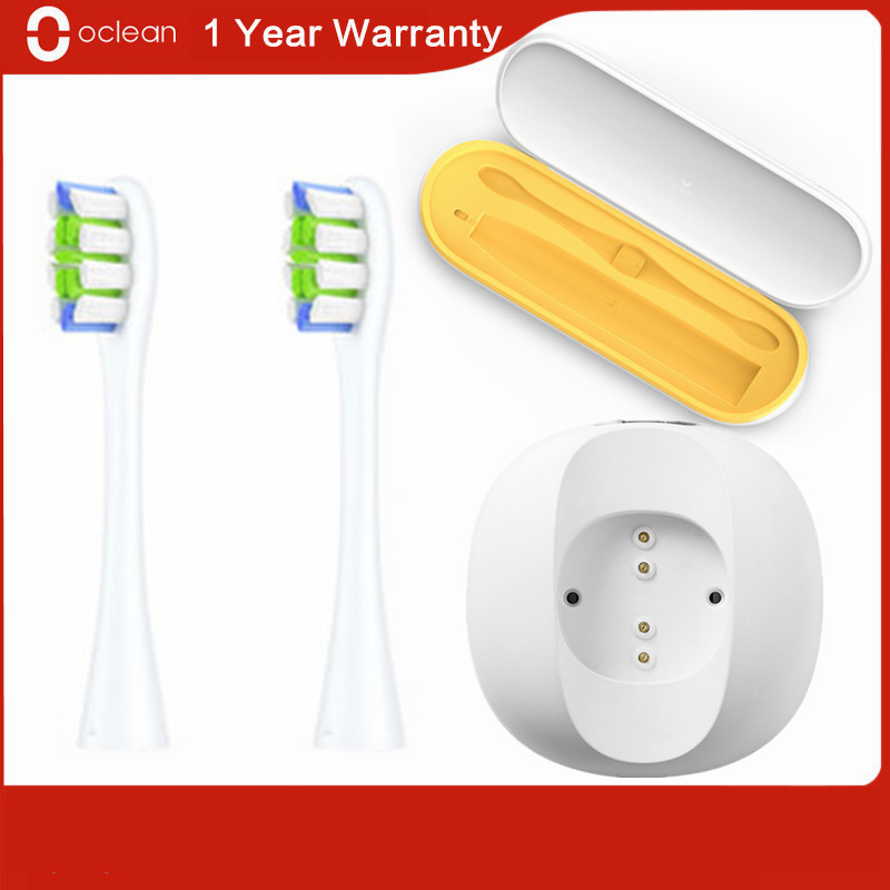 Original Oclean Travel Case Box 2-in-1 Design Electric Toothbrush Charging Base PW01 Replacement Brush Head for Oclean X / Z1