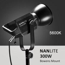NANLITE Forza 60W 300W การถ่ายภาพแสงกลางแจ้ง 5600K LED Monolight COB ไฟ Bowens Mount Studio แฟลช strobe LIGHT