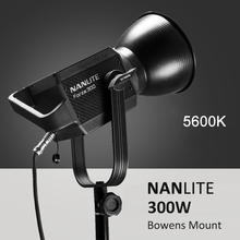 NANLITE Forza 60W 300W Fotografie licht Outdoor 5600K LED Monolight COB Licht mit bowens berg Studio Flash strobe Licht