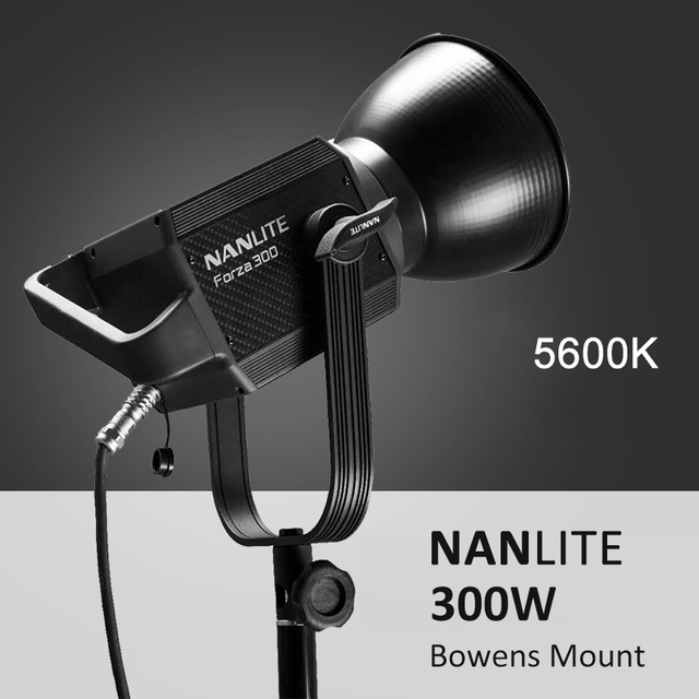 NANLITE Forza 60W 300W Photography light Outdoor 5600K LED Monolight COB Light with bowens mount Studio Flash Strobe Light