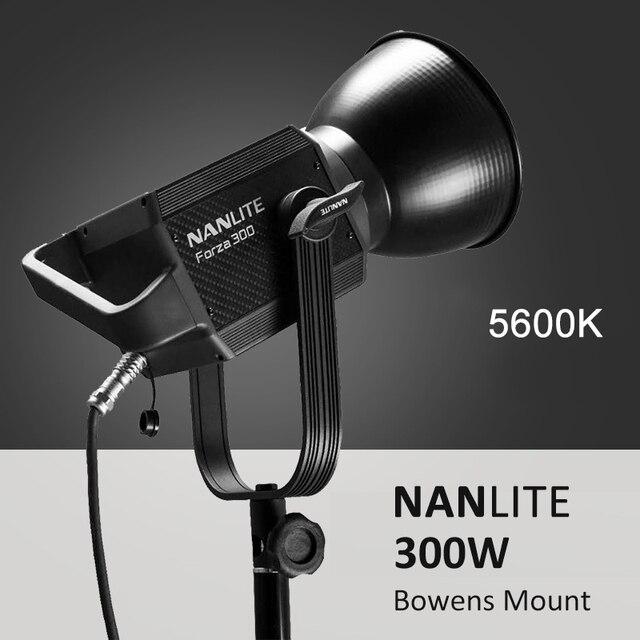 NANLITE luz LED para fotografía al aire libre, 60W, 300W, 5600K, luz COB con montaje de bowens, lámpara estroboscópica para Flash