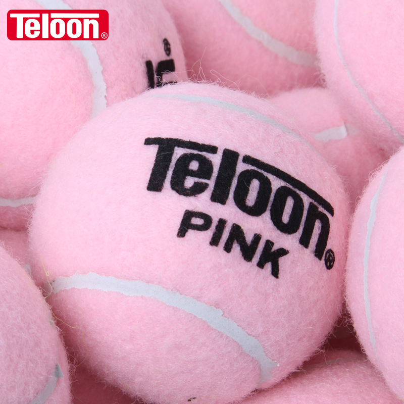 TELOON PINK Tennis Training Balls Wear-resistant High Elastic For Ladies Beginners K006SPG