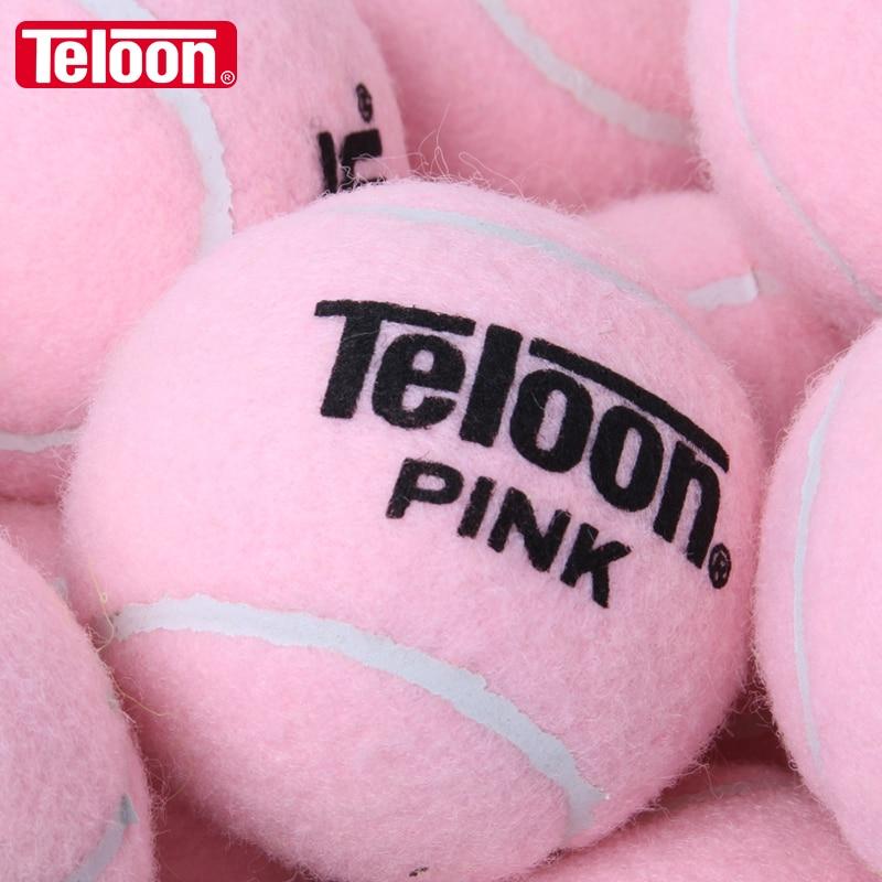 TELOON PINK Tennis Training Balls Wear-resistant High Elastic For Ladies Beginners K006SPG