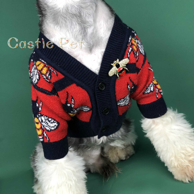 Autumn Puppy Sweater Cardigan,Dog Knit Sweater Classic Design,For Small Medium Dogs Poodle Terrier Pets Clothes Woolen Sweater 1